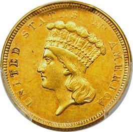 Image of 1854-O $3 PCGS/CAC AU53