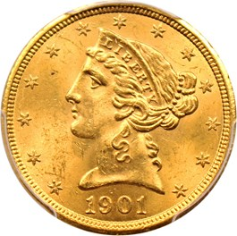 Image of 1901-S $5 PCGS MS64