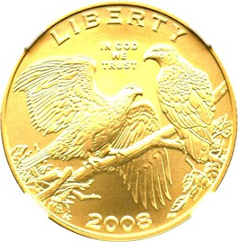 Image of 2008-W Bald Eagle $5 NGC MS70
