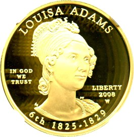 Image of 2008-W Louisa Adams $10 NGC Proof 70 UCAM