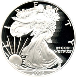 Image of 2006-W Silver Eagle $1 PCGS Proof 70 DCAM