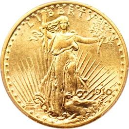 Image of 1910-S $20 PCGS AU58