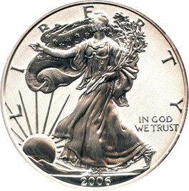 Image of 2006-P Silver Eagle $1 PCGS Proof 70 (Reverse Proof )