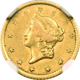 Image of 1852-O G$1 NGC XF45