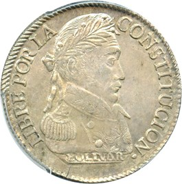 Image of Bolivia: 1830-PTS JL Silver 4 Soles PCGS MS63 (KM-96a.1)