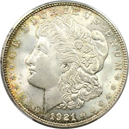 Image of 1921-D $1 PCGS MS64