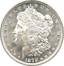 Image of 1879 $1 PCGS MS62+ PL
