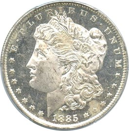 Image of 1885-O $1 PCGS MS63 DMPL