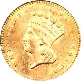 Image of 1861 G$1 NGC MS61