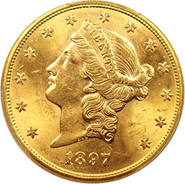 Image of 1897-S $20 PCGS MS63