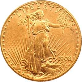 Image of 1908-S $20 PCGS/CAC AU53
