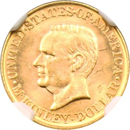 Image of 1916 McKinley G$1 NGC/CAC MS63