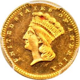 Image of 1879 G$1 PCGS MS66