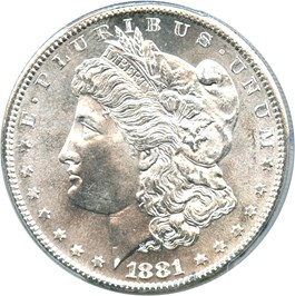 Image of 1881-S $1 PCGS MS67