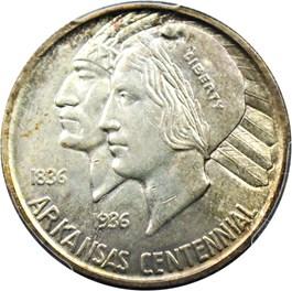Image of 1937-S Arkansas 50c PCGS/CAC MS63