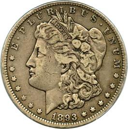 Image of 1893-CC $1 PCGS/CAC VF30