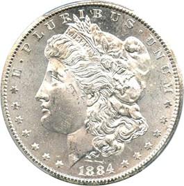 Image of 1884-CC $1 PCGS/CAC MS63
