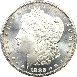 Image of 1882-CC $1 PCGS/CAC MS65 PL