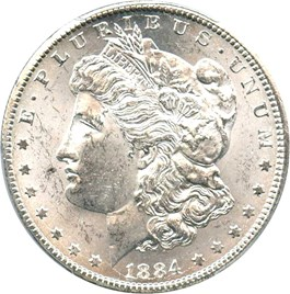 Image of 1884-CC $1 PCGS/CAC MS61