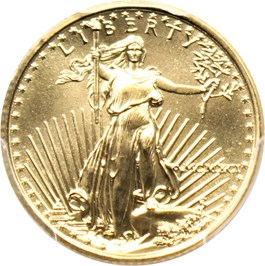 Image of 1991 Gold Eagle $5 PCGS MS69