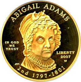 Image of 2007-W Abigail Adams $10 PCGS Proof 69 DCAM