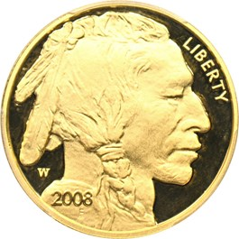 Image of 2008-W American Buffalo $50 PCGS Proof 70 DCAM