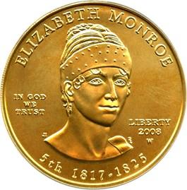 Image of 2008-W Elizabeth Monroe $10 PCGS MS69 (First Strike)