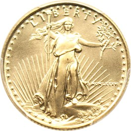 Image of 1986 Gold Eagle $10 PCGS MS69