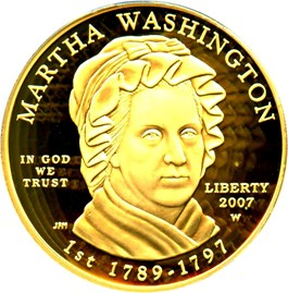 Image of 2007-W Martha Washington $10 PCGS Proof 69 DCAM