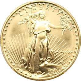 Image of 1986 Gold Eagle $25 PCGS MS69