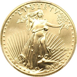 Image of 1990 Gold Eagle $25 PCGS MS69