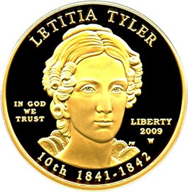 Image of 2009-W Letitia Tyler $10 PCGS Proof 69 DCAM (First Strike)