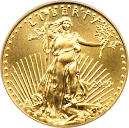 Image of 2010 Gold Eagle $5 PCGS MS70 (First Strike)