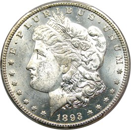 Image of 1893-CC $1 PCGS MS63