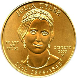 Image of 2009-W Julia Tyler $10 PCGS MS69 (First Strike)