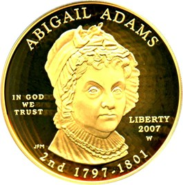 Image of 2007-W Abigail Adams $10 PCGS Proof 69 DCAM (First Strike)