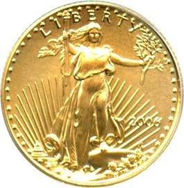 Image of 2006 Gold Eagle $5 PCGS MS70 (First Strike)