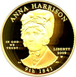 Image of 2009-W Anna Harrison $10 PCGS Proof 69 DCAM (First Strike)