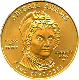 Image of 2007-W Abigail Adams $10 PCGS MS69