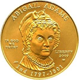 Image of 2007-W Abigail Adams $10 PCGS MS69