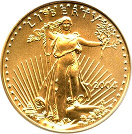 Image of 2004 Gold Eagle $25 PCGS MS70