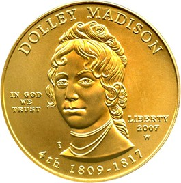 Image of 2007-W Dolley Madison $10 PCGS MS69
