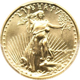 Image of 1986 Gold Eagle $5 PCGS MS69