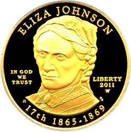Image of 2011-W Eliza Johnson $10 PCGS Proof 69 DCAM