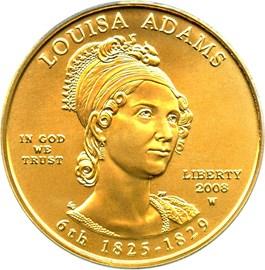 Image of 2008-W Louisa Adams $10 PCGS MS69 (First Strike)