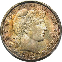 Image of 1902 50c PCGS/CAC MS65