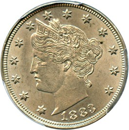Image of 1883 5c PCGS MS63 (With Cents)