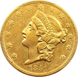 Image of 1851-O $20 PCGS AU50