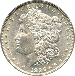 Image of 1896 $1 PCGS MS62 OGH