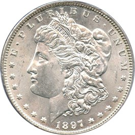 Image of 1897 $1 PCGS MS64